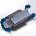 plate flanged externally pressurized