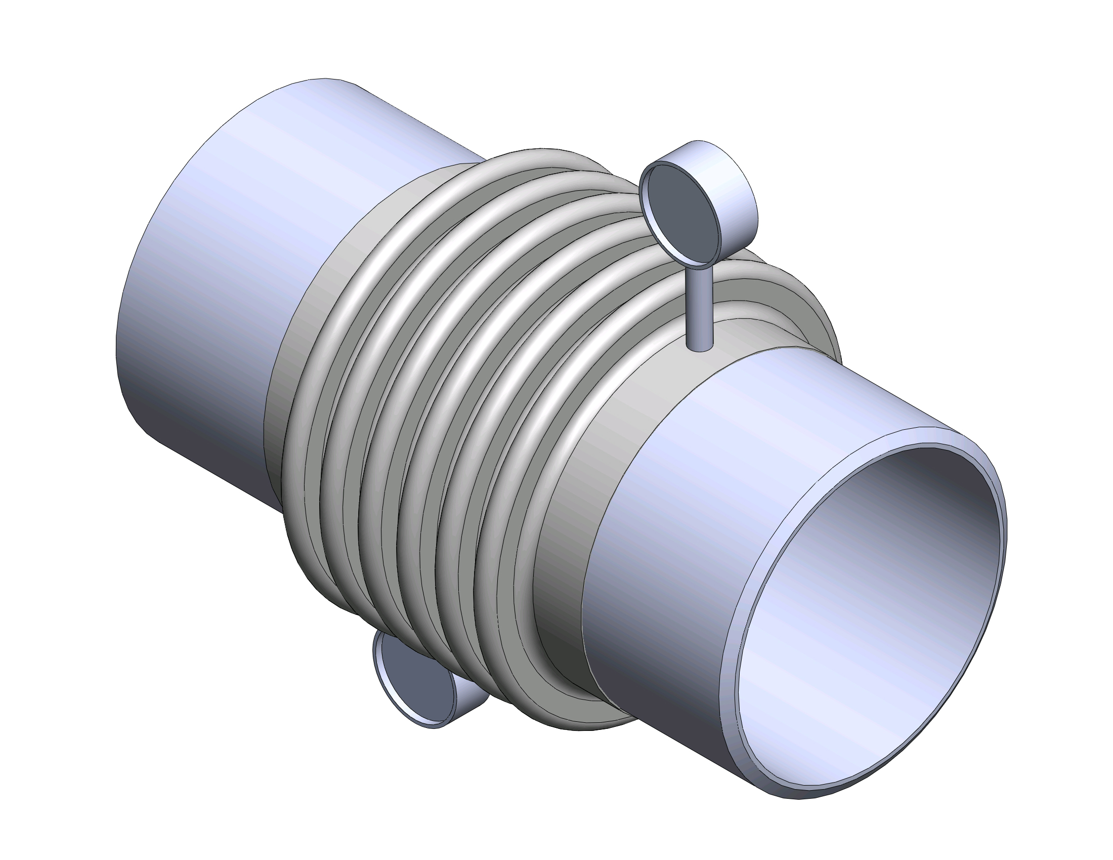 Two ply testable bellows expansion joints dme