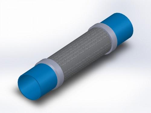 copper vibracheck flex connector, copper sweat